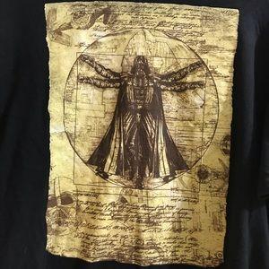 Men's Star Wars T Shirt Darth Vader Large Cotton